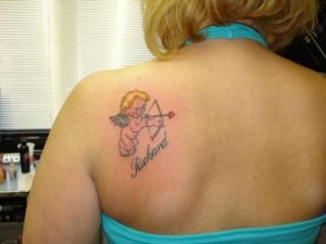 cupid tattoos for women