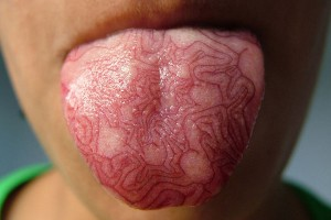 lining on the tongue