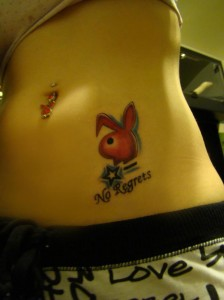 Sexy Bunny tattoo with message