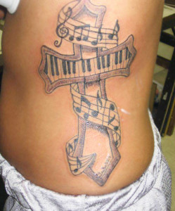 Magnificent musical notes tattoo design