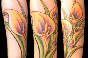 Lovely Calla lily tattoo design