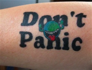 Amazing Hitchhikjers Guide to the Galaxy geeky tattoo