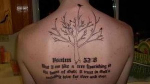 deeply religious tattoo