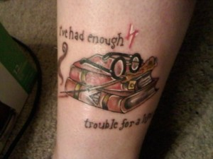 Unique Harry Potter geeky tattoo