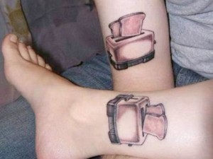 Couples matching tattoos