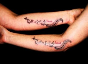 Matching couple tattoo ideas on hands