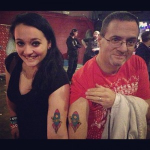 Matching father daughter tattoo ideas