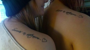 Matching tattoo images