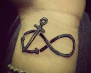 Anchor infinity tattoo signs