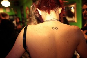 Infinity tattoo on the back