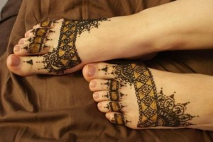 foot and toes henna tattoo designs