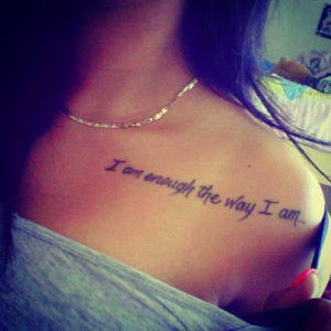 Meaningful quote tattoo