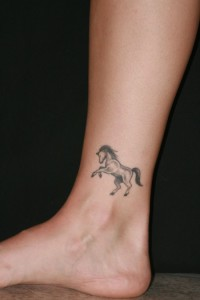 Small tattoo on ankle