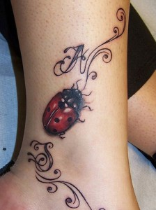 Ankle tattoos for women