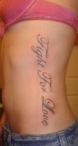 Quote tattoos on side