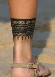 Lace Ankle Tattoo