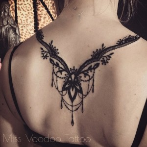 Spectacular Lace Back Tattoo