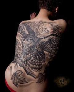 The Nocturnal Back Tattoo