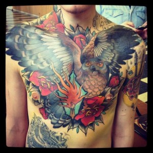 The Superior Owl Chest Tattoo