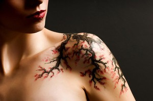Tree Branches Shoulder Tattoo