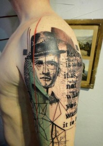 Words And Graphics Arm Tattoo