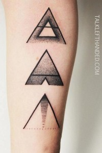 Equilateral Triangles Forearm Tattoo