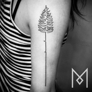 Continuous Pine Arm Tattoo