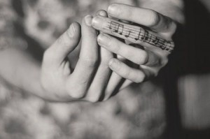 Musical Notes Finger Tattoo