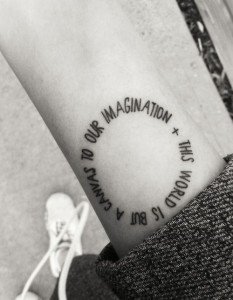 Quote Arm Tattoo