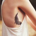 Feather Side Body Tattoo