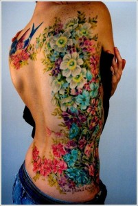 Floral Side Body Tattoo