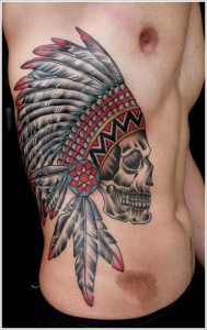 Indian Side Body Tattoo