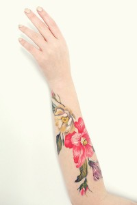 Lovely Floral Forearm Tattoo