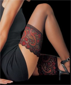 Sophisticated Lace Thigh Tattoo