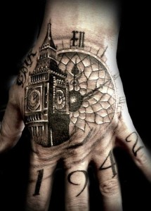 Time Table Hand Tattoo
