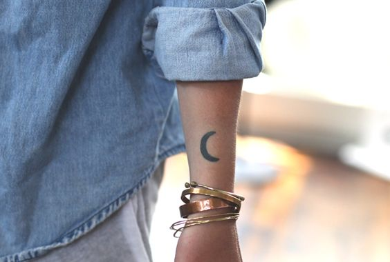 Crescent Outer Forearm Tattoo
