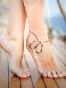 Dog Tag Ankle Tattoo