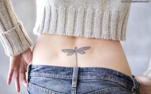 Dragonfly Lower Back Tattoo