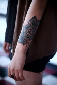 Flowers Outer Forearm Tattoo