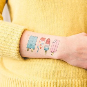 Popsicles Outer Forearm Tattoo