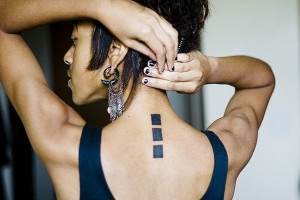 Rectangles Spine Tattoo