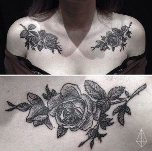 Roses Chest Tattoo