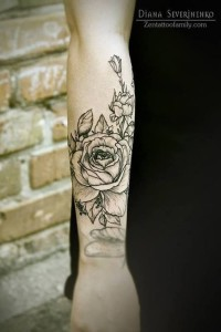 Roses Outer Forearm Tattoo