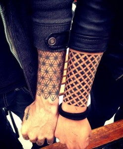 Symmetry Outer Forearm Tattoo