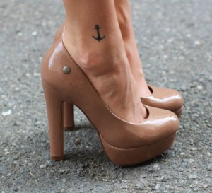 Tiny Anchor Ankle Tattoo