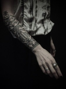 Tribal Outer Forearm Tattoo