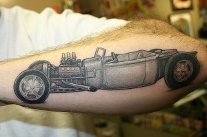 Vintage Car Outer Forearm Tattoo