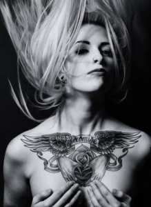Winged Promise Chest Tattoo
