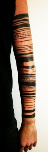 Wrapped Lines Sleeve Tattoo