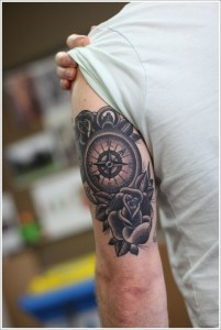 Compass Triceps Tattoo